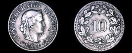 1913-B Swiss 10 Rappen World Coin - Switzerland - $4.99
