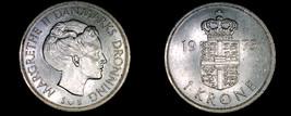 1975 Danish 1 Krone World Coin - Denmark - $2.49