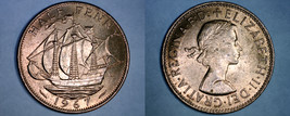 1967 Great Britain Half (1/2) Penny World Coin - UK - England - $2.99