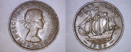 1959 Great Britain Half (1/2) Penny World Coin - UK - England - $3.49