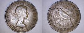 1958 New Zealand 1 Penny World Coin - Tui Bird - $9.99