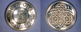 1967 Guyana 5 Cent Proof World Coin - $8.99