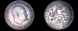 1964 Sierra Leone 20 Cent World Coin - $5.99