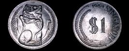 1969 Singapore 1 Dollar World Coin - Singapore Lion - $8.99