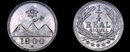 1900-H Guatemalan Quarter 1/4 Real World Coin - Guatemala - $14.99