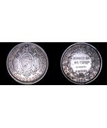 1892-PTS CB Bolivian 50 Centavo World Silver Coin - Bolivia - $34.99