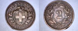 1936-B Swiss 2 Rappen World Coin - Switzerland - $19.99
