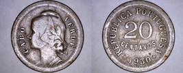 1930 Cape Verde 20 Centavo World Coin - $10.49
