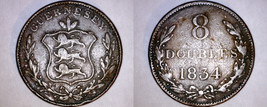 1834 Guernsey 8 Double World Coin - William IV - $21.99