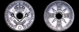 1938 New Guinea 1 Shilling World Silver Coin - $19.99