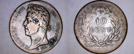 1825-A French Colonies 10 Centimes World Coin - $29.99