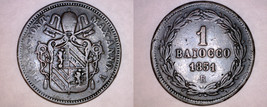 1851-VR Italian States Papal States 1 Biaocco World Coin - $19.99