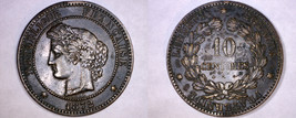 1872-A French 10 Centimes World Coin - France - $17.99