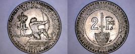 1926 Monaco 2 Franc World Coin - $34.99