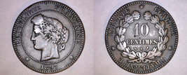 1897-A French 10 Centimes World Coin - France - $11.99