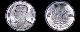 1950 BE2493 Thai 5 Satang World Coin - Thailand Siam Y-72 - $3.75