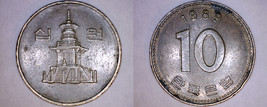 1989 South Korean 10 Won World Coin - South Korea - $1.99