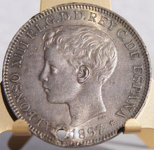 1897-SGV Philippino 1 Peso World Silver Coin - ... - $149.99