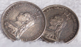Two(2) 1893 Great Britain 3 Pence World Silver Coins - Jewelry - Single ... - $149.99