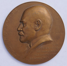 1925 Vienna Austria Edward Gottl 40th Anniversary as Chlormaster Medal -  60MM - $59.99