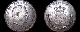 1963 Danish 5 Kroner World Coin - Denmark - $34.99