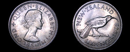 1962 New Zealand 6 Pence World Coin - $12.99