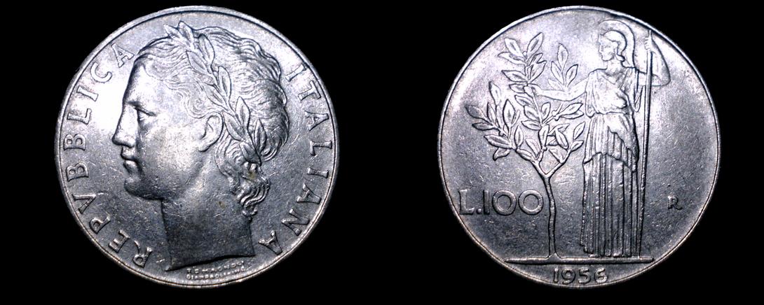 1956-R Italian 100 Lire World Coin - Italy - Italy (1861-Now)