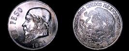 1981 Open 8 Mexican 1 Peso World Coin - Mexico - $19.99