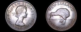 1962 New Zealand 1 Florin World Coin - $14.99