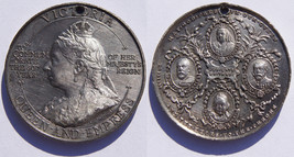 1897 Great Britain Queen Victoria 60th Year of Reign Anniversary Medal - $34.99