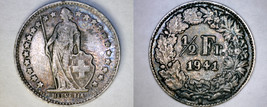 1941-B Swiss Half Franc World Silver Coin - Switzerland - $24.99