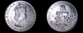 1964 Bermuda 1 Crown World Silver Coin - $24.99