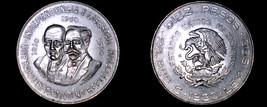 1960 Mexican 10 Peso World Silver Coin - Mexico - $39.99