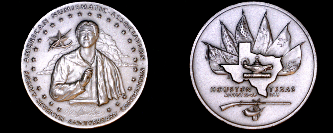 1978 American Numismatic Association 87rd Convention 34.5g Silver - Houston - $54.99