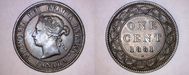 1881-H Canada 1 Large Cent World Coin - Canada - $49.99