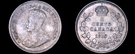 1918 Canada 5 Cent World Silver Coin - Canada - George V - $17.99