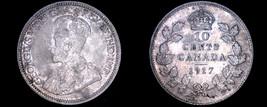 1917 Canada 10 Cent World Silver Coin - Canada - George V - $39.99
