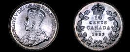 1932 Canada 10 Cent World Silver Coin - Canada - George V - $119.99