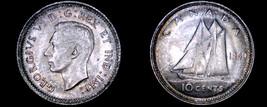 1940 Canada 10 Cent World Silver Coin - Canada - George VI - $24.99