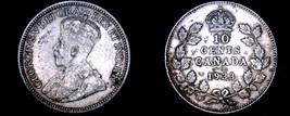 1933 Canada 10 Cent World Silver Coin - Canada - George V - $49.99