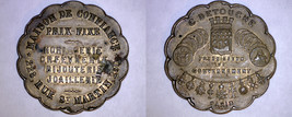 Undated Brass Jeweller's Advertising Token Paris France - $29.99