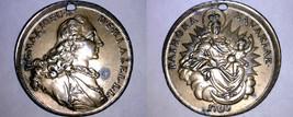 German States Bavaria Madonna Thaler Holed Medal - $44.99