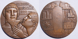 Very Large French Medal - Foundation of Marseille by Greeks - $124.99