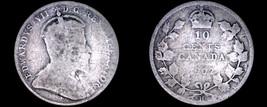 1902-H Canada 10 Cent World Silver Coin - Canada - Edward VII - $9.99