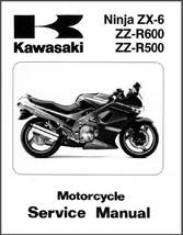 93-05 Kawasaki Ninja ZX-6 ZZ-R600 ZZ-R500 Service Manual CD  - ZZR600 ZZR500 600 - $12.00