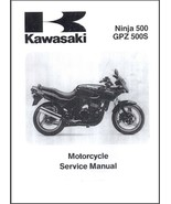 94-09 Kawasaki Ninja 500 GPZ 500S Service Repair Manual CD - EX500 500R ... - $12.00