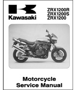01-07 Kawasaki ZRX1200R ZRX1200S ZRX1200 Service Repair Manual CD - ZRX ... - $12.00