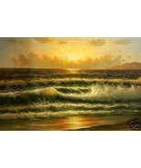 Gold Coast Breakers  Original Oil Painting  On ... - $123.75