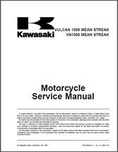 Kawasaki Vulcan 1500 / VN1500 Mean Streak Repair Service Manual CD  -- VN 1500 - $12.00