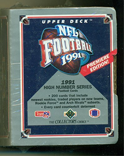 1991 Upper Deck NFL Football High Number Series Sealed Set with Brett Favre Rook